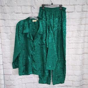 Vintage Victoria Secret Silky Brocade Pajama Set